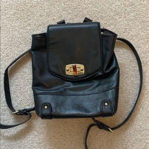 Black Backpack Purse